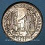 Coins Paris. Bâtiments du Roi. Louis XIV. Jeton cuivre argenté 1683
