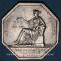 Coins Paris. Commissaires Priseurs. Louis XVIII. Jeton argent. Sans poinçon
