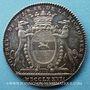 Coins Paris. de la Michodière, comte de Harteville, seigneur de Romène. Jeton argent 1777