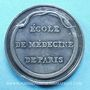 Coins Paris, Ecole de médecine, jeton argent. Sans poinçon