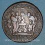 Coins Paris. Gabelles de France. Jeton cuivre. 1664