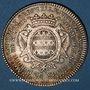 Coins Paris. Louis Bazile de Bernage, prévôt des marchands. Jeton argent 1753