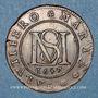 Coins Paris. Noblesse de l'Ile de France. Surmain. Jeton cuivre 1657