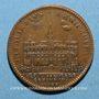 Coins Paris. Prévôts des marchands. H. de Fourcy. Jeton cuivre 1688