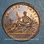 Coins Paris. Trésor royal. Louis XV. Jeton cuivre 1733