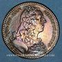 Coins Paris. Trésor royal. Louis XV. Jeton cuivre 1740