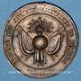 Coins Pezenas (34). Société des Anciens Militaires. Jeton laiton