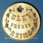 Coins Reims (51). Bley Frères, Champagne Bouchage Breveté. Jeton publicitaire
