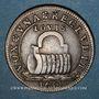 Coins Secrétaires du Roi. Jeton cuivre 1654