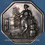 Coins Seine, Chambre Syndicale des Tissus, jeton argent. Poinçon : abeille