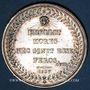 Coins Société Académique des Enfants d'Apollon. Jeton en argent. Poinçon : abeille