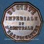 Coins Société impériale et centrale d'horticulture. Jeton cuivre. Octogonal