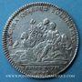 Coins Trésor royal. Louis XIV. Jeton argent 1715