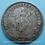 Coins Trésor royal. Louis XIV. Jeton argent 1731