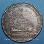 Coins Trésor royal. Louis XIV. Jeton argent 1737