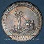 Coins Trésor royal. Louis XIV. Jeton argent 1758
