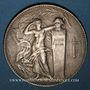 Coins Union des Industries chimiques 1947. Jeton argent. 36,49 mm