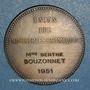 Coins Union des Industries chimiques 1951. Jeton argent. Flan mat