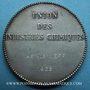 Coins Union des Industries chimiques 1968. Jeton argent. 36,49 mm