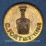 Coins Verdun (55). C. Fort, agent général de Liqueur Cordelière Gury-Rousselot à Bourmont. Jeton laiton