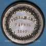 Coins Versailles, Société d'horticulture de Seine-et-Oise, 1840, jeton cuivre 27,7 mm