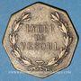 Coins Vesoul. Lycée. Jeton octogonal en laiton 25,6 mm