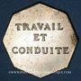 Coins Vesoul, Lycée, jeton octogonal en laiton argenté 25,5 mm