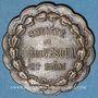 Coins Vesoul. Société de tir. Jeton laiton. 25 mm