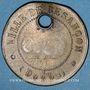 Coins Ville de Besançon. Jeton laiton 27,5 mm
