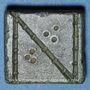 Coins Byzance. Poids monétaire de 1 nomisma. 5e-6e siècle