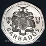 Coins Barbade. 1 dollar 1973