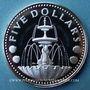 Coins Barbade. 5 dollars 1973
