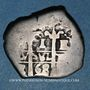 Coins Bolivie. Charles II (1665-1700). 1 real 1668. Potosi. Lettre d'essayeur : E