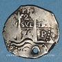 Coins Bolivie. Philippe IV (1621-1665). 2 reales 1656PE-PH. Potosi