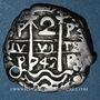 Coins Bolivie. Philippe V (1700-1746). 2 reales 1742. Potosi. Lettre d'essayeur : P
