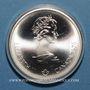 Coins Canada. Elisabeth II (1952- /). 10 dollars 1976. J.O. Montréal. Hockey sur gazon