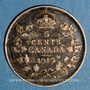 Coins Canada. Georges V (1910-1936). 5 cents 1915