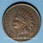 Coins Etats Unis. 1 cent 1901