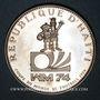 Coins Haïti. République (1863- /). 25 gourdes 1973. Championnat du Monde de Football