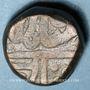 Coins Inde. Bikanir. Ratan Singh (1244-1268H = 1828-1851). Takka au nom de Shah Alam II