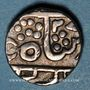 Coins Inde. Gwalior. Jayaji Rao (1259-1304H = 1843-1886). Roupie au nom de Shah Alam II, an 23
