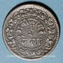 Coins Inde. Gwalior. Madho Rao (1943-82VS = 1866-1925). 1/2 pice