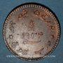 Coins Inde. Kutch. Khengarji III (1932-98VS = 1875-1942). 3 dokda au nom de Georges V 1934 = 1990VS