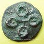 Coins Inde. Les Andhras du Deccan. Les premiers Satakarnis (32 av. - 107 ap J-C). Bronze de 32 rattis