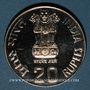 Coins Inde. République. 20 roupies 1986 (B) Bombay