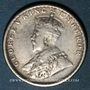 Coins Indes Anglaises. Georges V (1910-1936). 1/4 roupie 1917 (c). Calcutta