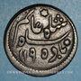 Coins Indes Anglaises. Gouvernement du Bengale. 1/2 anna 1195/22H (= 1780)