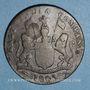 Coins Indes anglaises. Présidence de Madras. 20 cash 1803