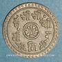 Coins Népal. Prithvi Bir Bikram (1881-1911). 1/2 mohar  1827 ES (=1905)