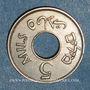 Coins Palestine. Administration britannique. 5 mils 1934